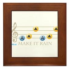 Make It Rain Framed Tile
