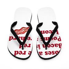 Bacon Poem Flip Flops