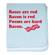 Bacon Poem baby blanket