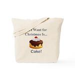 Christmas Cake Tote Bag