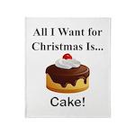 Christmas Cake Throw Blanket