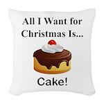 Christmas Cake Woven Throw Pillow