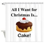 Christmas Cake Shower Curtain