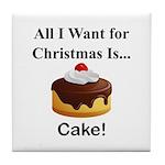 Christmas Cake Tile Coaster