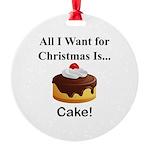 Christmas Cake Round Ornament