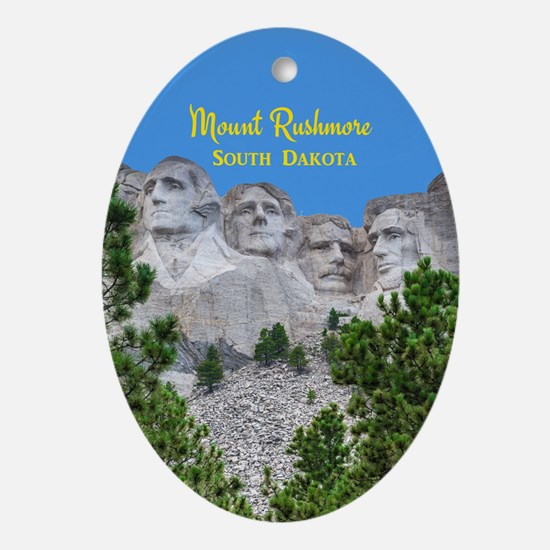 Mount Rushmore Ornament (Oval)