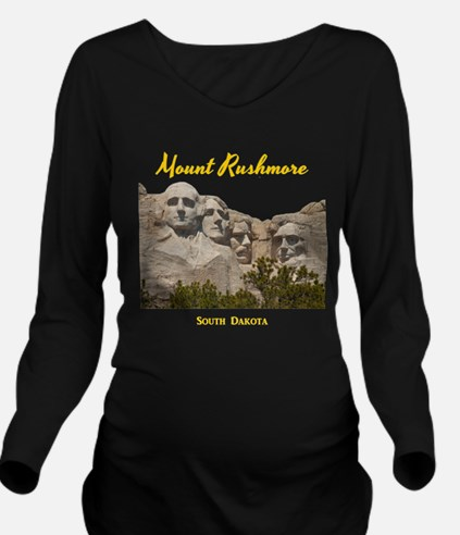 Mount Rushmore Long Sleeve Maternity T-Shirt