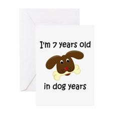 1 dog years 4 - 2 Greeting Cards
