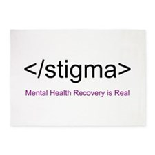 End Stigma HTML 5'x7'Area Rug
