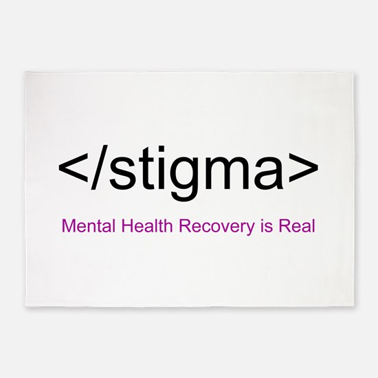End Stigma HTML 5'x7'Area Rug