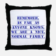Remember As Far As Anyone Knows Throw Pillow