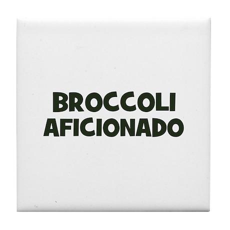broccoli aficionado Tile Coaster