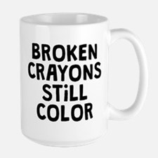 Broken Crayons Large Mug