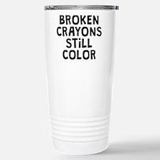 Broken Crayons Stainless Steel Travel Mug