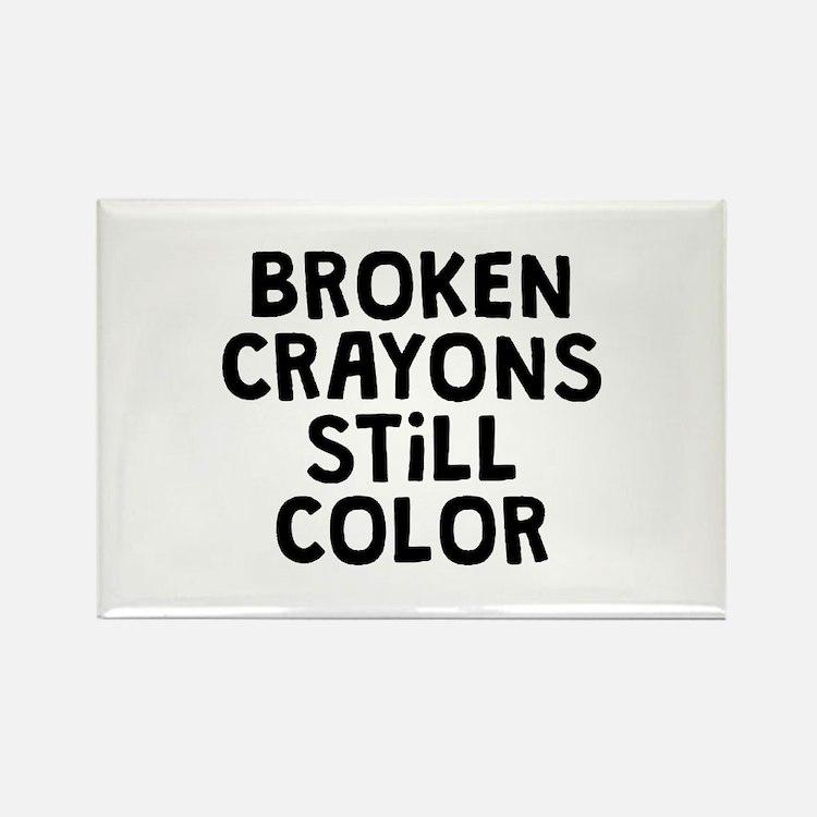 Broken Crayons Rectangle Magnet