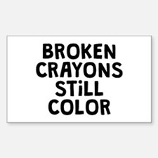 Broken Crayons Sticker (Rectangle)