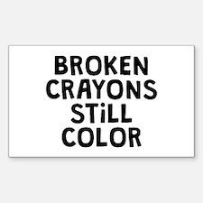 Broken Crayons Stickers