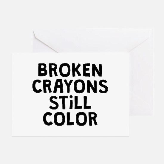 Broken Crayons Greeting Card