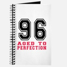 96 Aged To Perfection Birthday Designs Journal
