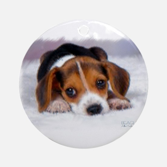 Pocket Beagle painting Ornament (Round)