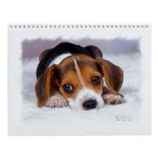 Pocket Beagle Painting Wall Calendar