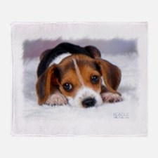 Pocket Beagle painting Throw Blanket
