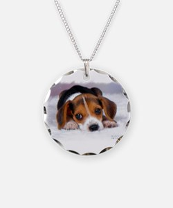 Pocket Beagle Painting Necklace