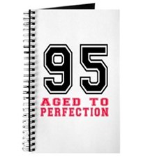 95 Aged To Perfection Birthday Designs Journal