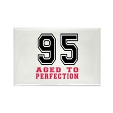 95 Aged To Perfection Birthday De Rectangle Magnet