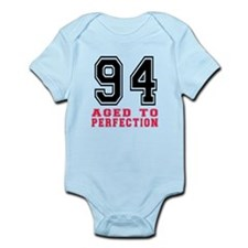 94 Aged To Perfection Birthday Des Infant Bodysuit