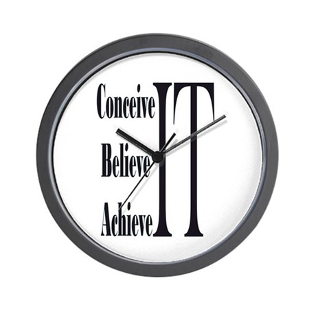Conceive/Believe/Achieve Wall Clock