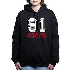 91 Aged To Perfection Bi Women's Hooded Sweatshirt