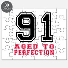 91 Aged To Perfection Birthday Designs Puzzle