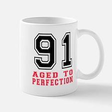 91 Aged To Perfection Birthday Designs Mug