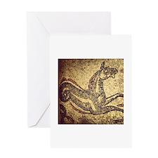 Roman Seahorse Greeting Cards