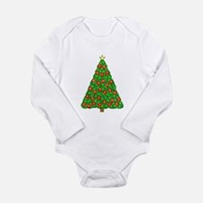 Cute Boy%27s 1st christmas Long Sleeve Infant Bodysuit