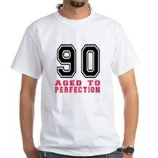90 Aged To Perfection Birthday Desig Shirt