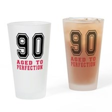 90 Aged To Perfection Birthday Desi Drinking Glass