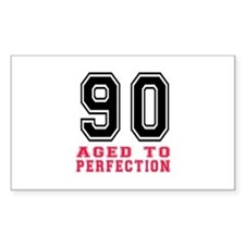90 Aged To Perfection Birthday Decal