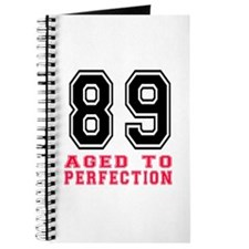89 Aged To Perfection Birthday Designs Journal