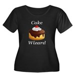Cake Wiz Women's Plus Size Scoop Neck Dark T-Shirt