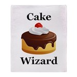 Cake Wizard Throw Blanket