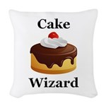 Cake Wizard Woven Throw Pillow