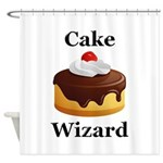 Cake Wizard Shower Curtain
