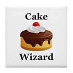 Cake Wizard Tile Coaster