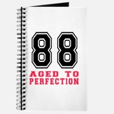 88 Aged To Perfection Birthday Designs Journal