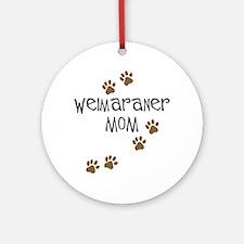 Weimaraner Mom Ornament (Round)