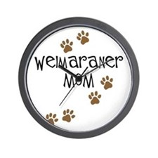 Weimaraner Mom Wall Clock