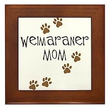 Weimaraner Mom Framed Tile