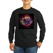 Cassiopeia A Supernova Dark Long Sleeve T-Shirt